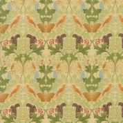 Moda - Voysey by The V&A - 6671 - Birds & Squirrels in Green   - 7322 11 - Cotton Fabric